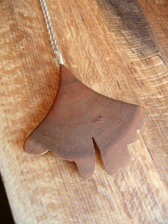 Gingko Leaf Necklace  Pendant, Ginkgo Leaf Necklace, Ginkgo Leaf Jewelry, botany nerd gift, herbal gift, Gift for her under 20
