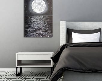 Moon Wall Art moon phase painting | etsy