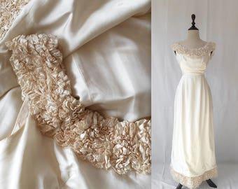 1960s Henri Bendel wedding gown