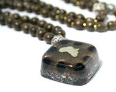 Onyx Orgone Mala Necklace - 'Sacred Intentions' - Mother Africa - 108 Prayer Beads - Boho Necklace, Spiritual Gift - Small