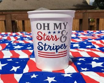 Fourth Of July Decor, Fourth Of July, Independence Day, 4th Of July Cups, Americana Decor, Fourth Of July Party, 4th of July Decor