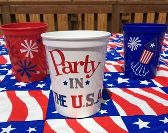4th Of July Party Favors, 4th Of July Party, Fourth Of July, July Fourth Decor, 4th July, July 4th Decor, Patriotic Decor, Stars And Stripes