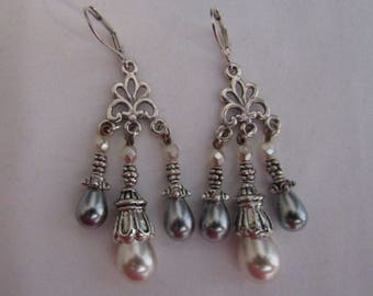 Versailles chandelier pearl earrings