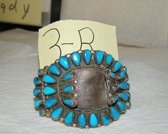 NA 3-R Sterling & Turquoise NA Watch Bracelet