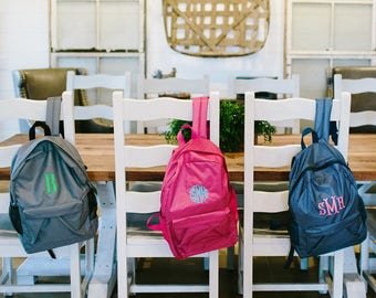Personalized Kids Backpack  Monogrammed Book Bag   Kids Backpack  Personalized Backpack  Monogram Backpack  Back To School   Preppy Backpack