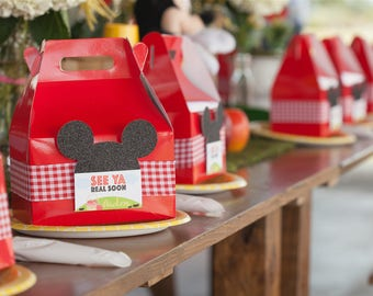 Mickey Mouse favor boxes/ mickey Mouse goodie boxes / Minnie Favor boxes