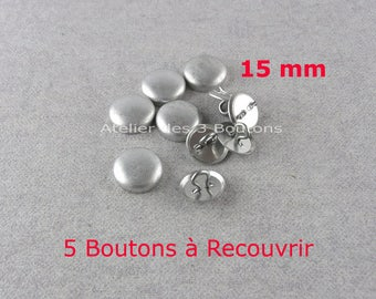 "5 Cover Buttons 5/8"" (Size 24)"