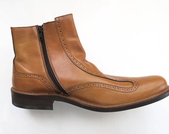 Moma Ankle Boot Stivali Uomo in Pelle con ziip