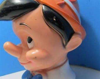 Rare Walt Disney World Pinocchio Piggy Bank Kids Boys Toys Collectors PVC Resin