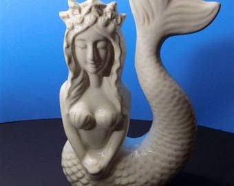 NEW Rare Ceramic Starbucks Style Mermaid Figurines Collectors Girls Lady Ocean Beach Gift Home Decor