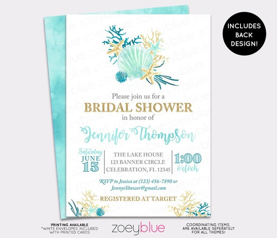 Beach bridal shower invitation seashell wedding shower invite il570xn filmwisefo