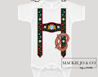 Oktoberfest Inspired Lederhosen Bodysuit German Inspired Drinking Buddies Daddy Bodysuit