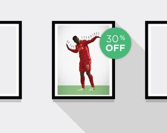 ON SALE!!! Daniel Sturridge Liverpool FC Football Print