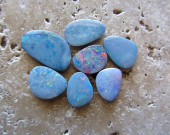 Natural Opal Doublets 7 stones