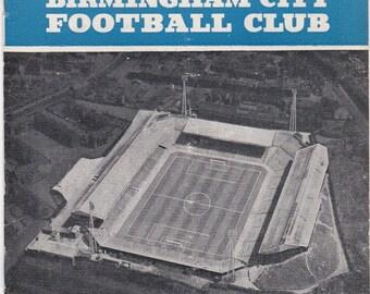 Vintage Football (soccer) Programme - Birmingham City v Chelsea, 1961/62 season