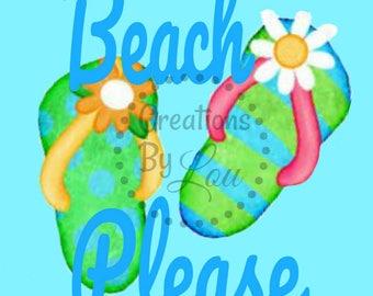 Beach Please 8x10 digital printable Jpeg file