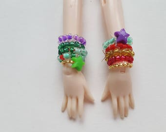 Bracelet set for Pullip doll - 10 Ariel assorted