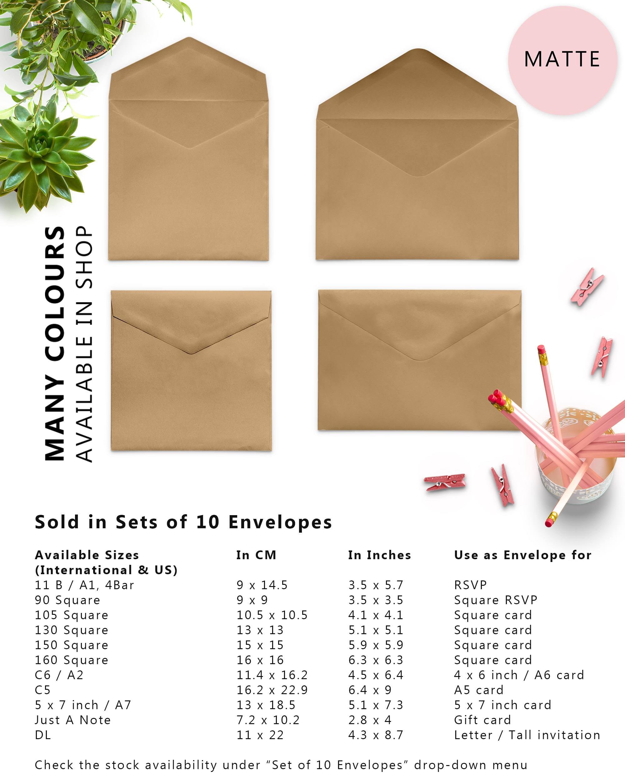 10 x Kraft Envelopes, Brown Envelopes, 4x6 Envelopes, A2 Envelopes ...