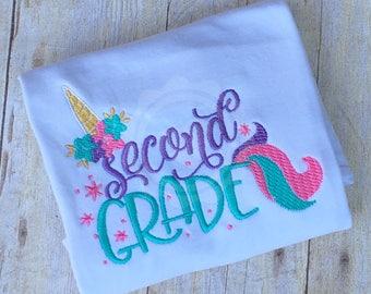 Unicorn School Shirt, Girl Back to School, First Day of School Shirt, Unicorn Shirt for School, Unicorn Shirt, Unicorn School Shirt