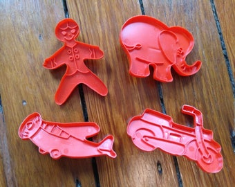 Plastic cookie cutters from the early 60s