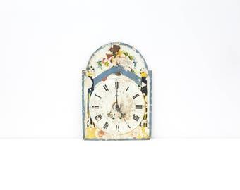 Rustic Floral Antique Clock Face
