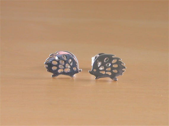 Sterling Silver Hedgehog Earrings