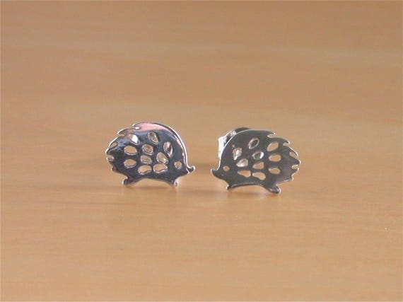 Sterling Silver Hedgehog Earrings ppFbEPCFt