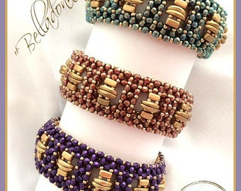 "Beading Pattern: ""Belladonna"" Bracelet in English D.I.Y."