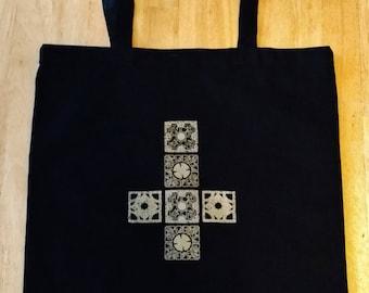 Hellraiser Lamenting Cross screen printed tote bag