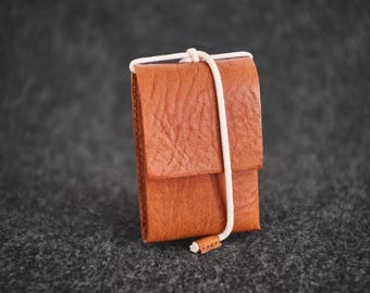 Hand-stitched Leather Wallet Simple Me II Minimal Camel Leather
