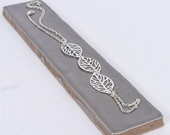 Silver Leaf Festival Hand Chain