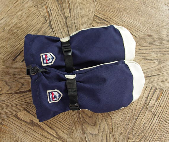 SALE! Vintage Hestra wool insulated ski snowboard outdoor mittens gloves / size 11