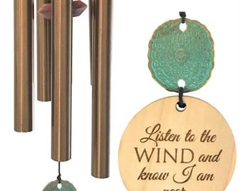When Words Fall Short...Top Selling Double Sided Custom Memorial Wind Chime Gift After Loss Wind Chime Loved One In Memory of