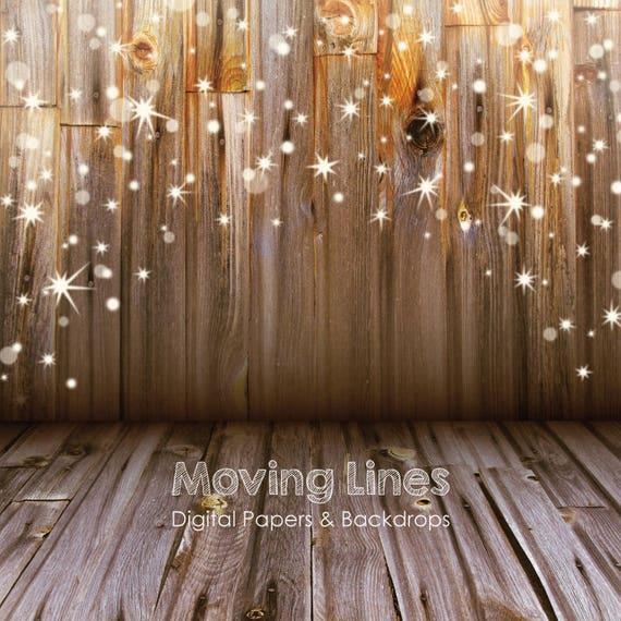 Christmas Stars Backdrop Baby Photography Back Drop Wood