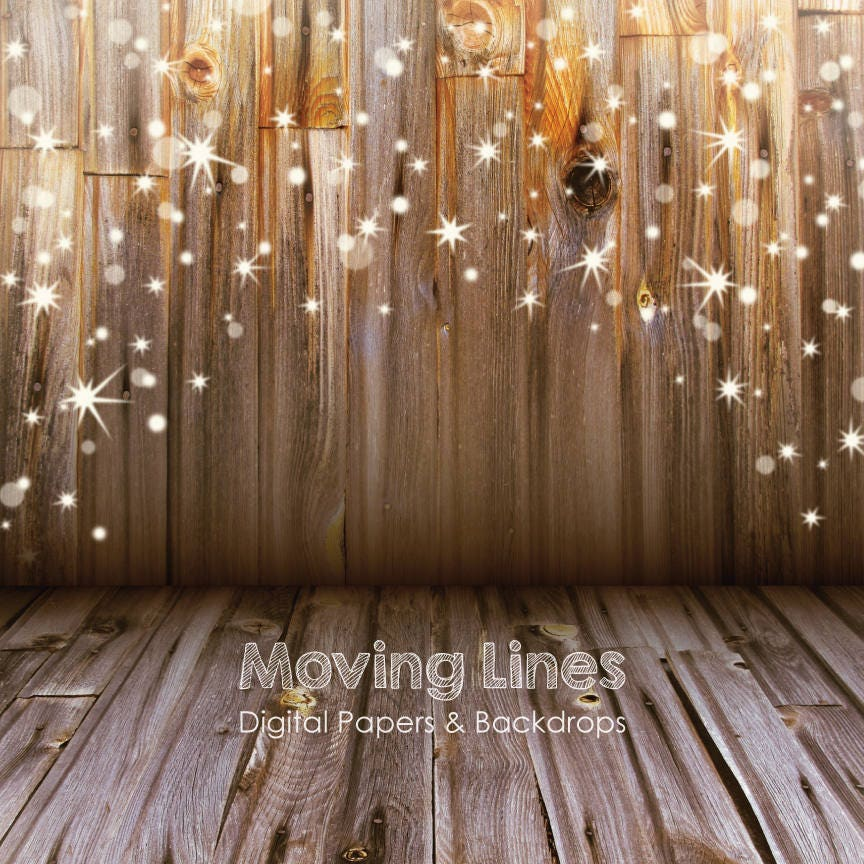 Christmas Stars Backdrop Baby Photography Back Drop Wood