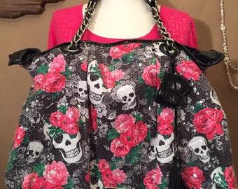 BETSEY JOHNSON sequin handbag Betsey Johnson bag designer bag large shoulder bag
