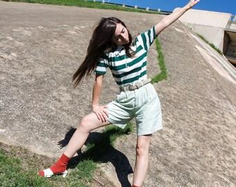 Mint Linen Trouser Short