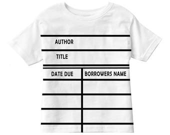Toddler T-shirt -Library Due Date Card Graphic© T-shirt - Perfect gift for Students, Teachers, Librarians, and Avid Readers!