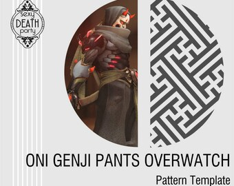 Oni Genji Pattern Template for Painting Fabric
