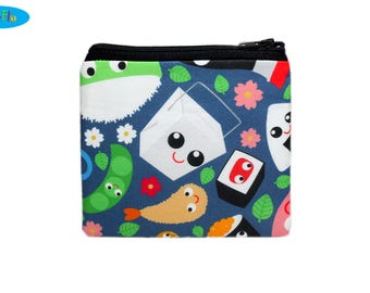 NEW Food Coin Purse | Lunch Coin Pouch | Sushi Zip Bag
