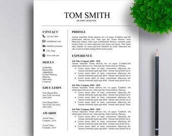 SALE | Professional Resume Template CV Template Cover Letter for Word Professional Resume Design | Instant Download for MS Word