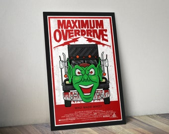 Stephen King Maximum Overdrive Movie Poster Print