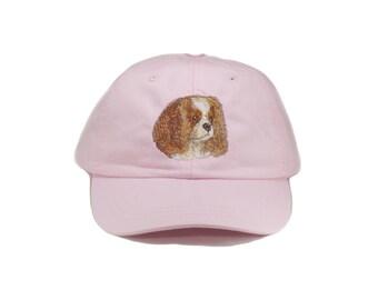Cavalier King Charles Spaniel embroidered hat, baseball cap, pet mom cap, dad hat, mom, dog agility, dog lover hat,  dog lover gift
