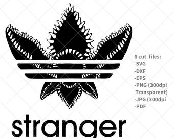 Stranger things svg, stranger things adidas svg, stranger things adidas clip art, cricut, silhouette cut file