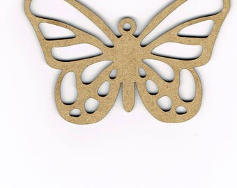 Wood Butterfly Shape Decoration Embellishment