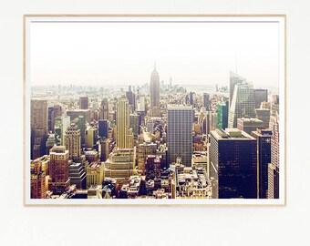 Printable New York City Wall Deco Print Poster Art Landscape Photo Photography Skyline Retro Vintage View Fashion EEUU United States 1019