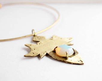 Opal necklace, choker necklace, gold choker collar, statement necklace, crystal necklace, gemstone necklace, tribal choker, boho necklace