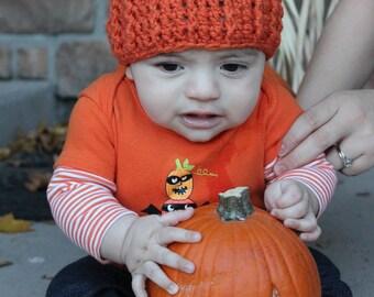 Crochet Pumpkin Hat Baby Pumpkin Hat Newborn Pumpkin Hat Newborn Baby Fall Pumpkin Hat Pumpkin Beanie Fall Photo Props