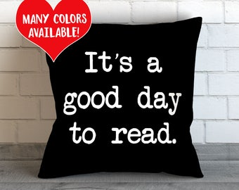 Reading Pillow, Book Lover Gifts, Book Lover Pillow, Book Lover Bedding, Book Pillow, Reading Throw Pillow, Book Lover Toss Pillow, Reading
