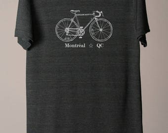 Montreal tshirt, Montreal tee, Montreal Canada tshirt, bike tee, bicycle tshirt, cycling